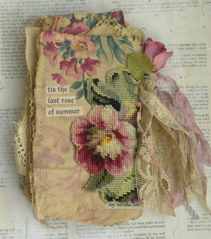 MIXED MEDIA FABRIC COLLAGE BOOK OF THE LAST ROSE OF SUMMER GIRLS | Art, Mixed Media Art & Collage Art | eBay!