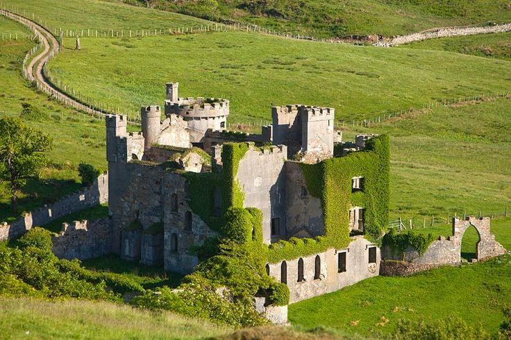 18th century Clifden Castle, County Galway, Ireland
