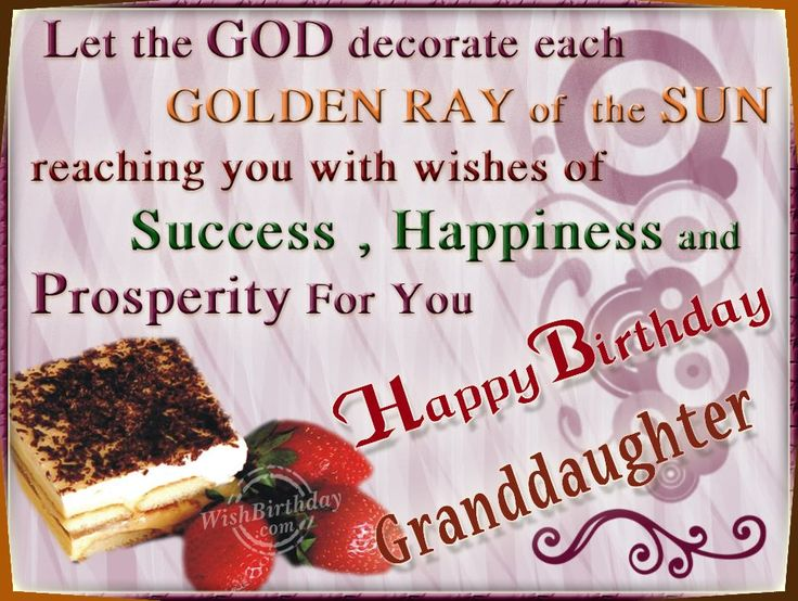 Happy Birthday Granddaughter Wishing Happy Returns To My