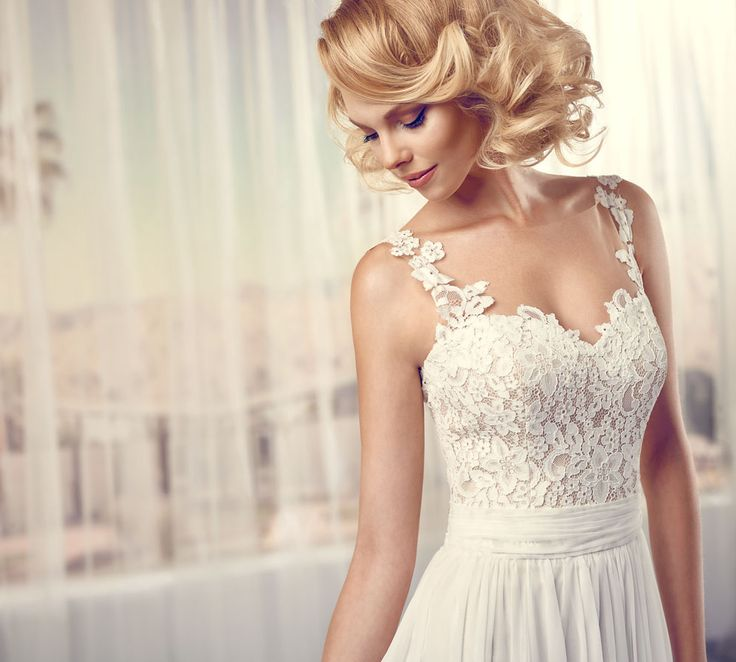 Modeca Stacey design from LePapillion collection. Elegant, simple and classic empire waist lace bodice design.