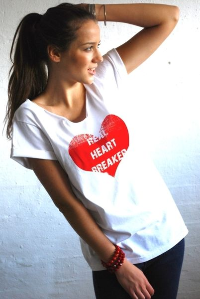 T-Shirts & Sweatshirts - Damen Oversize T-Shirt HEARTBREAKER - ein Designerstück von great_as_you bei DaWanda