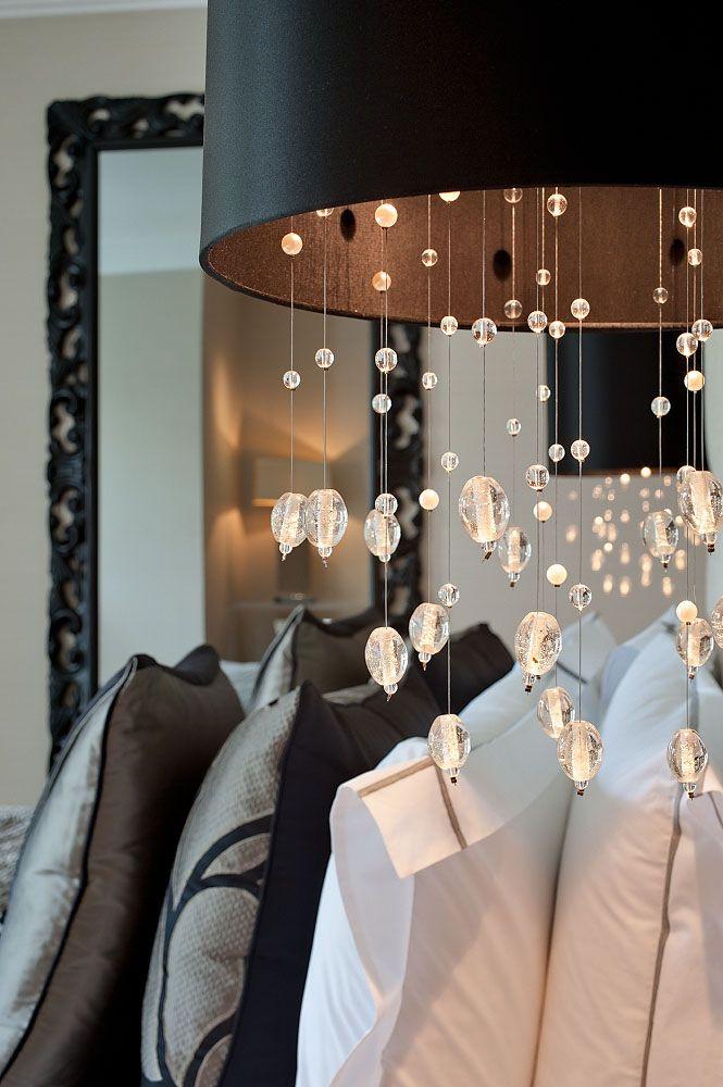 Glamorous Bedside Lighting © Hill House Interiors