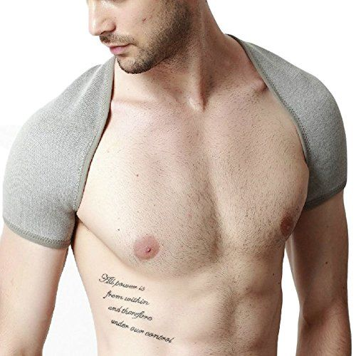 Price:    The shoulder support provides compression, support and warming relief to the shoulder joint complex without restricting movement. By stabilizing the joint capsule, the support reduces pain from tendon and ligamentous injury of the rotator cuff muscles whilst promoting healing through...
