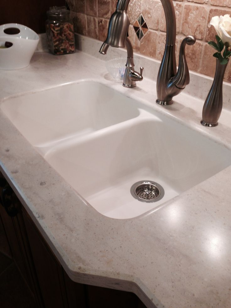 Seamless Corian Countertop Intregal Equal Double Bown