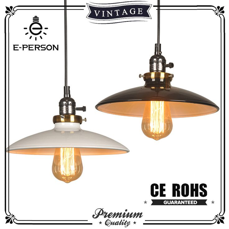 UFO ceiling lights kitchen lighting chandelier white and black painted lampshade antique pendant