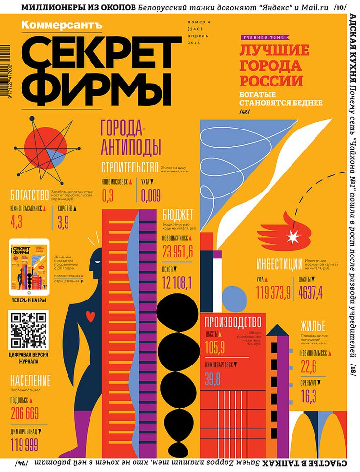 Maria Zaikina | SEKRET FIRMY cover #4(341), 01.04.2014 | My fresh cover for Kommersant SEKRET FIRMY magazine, the infographics is about antipodal cities, kommersant.ru/sf