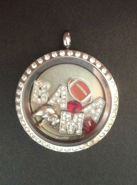University of Alabama BAMA UA- Roll Tide Football Floating Charms Lot/Set for Origami Owl Living Locket * Charms Only on Etsy, $22.99