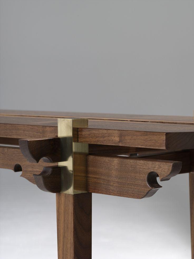 Walnut console table details pinterest vrac bois et for Bureau meuble en vrac
