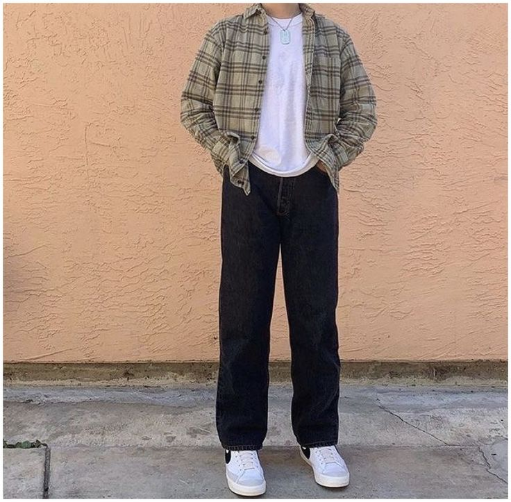 Vintage Outfits, Retro Outfits, Boy Outfits, Skater Outfits, Flannel Outfits, Vintage Clothing, Indie Fashion Men, Streetwear Fashion, Fashion For Boys