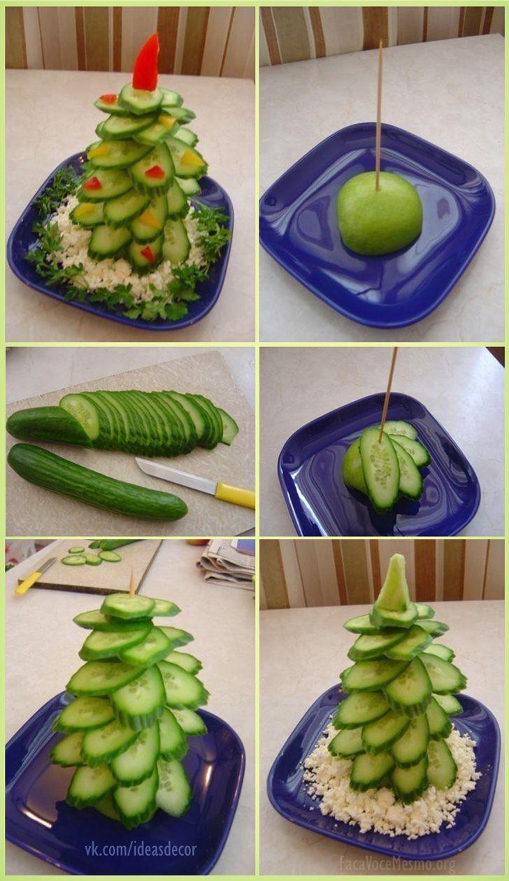 Weihnachtsbäume mit Obst oder Gemüse   Do It Yourself ...