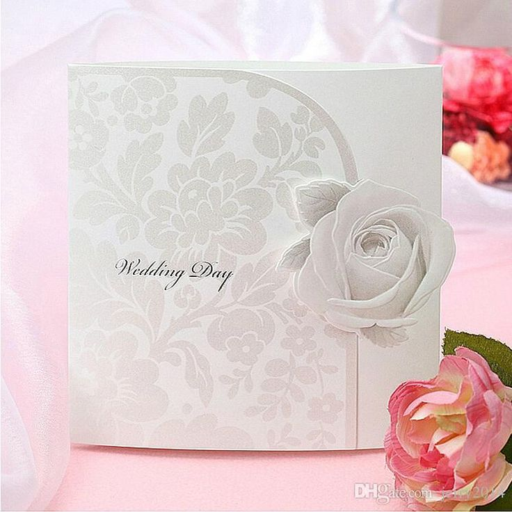 how to write muslim wedding invitation card%0A Box Wedding Invitations Creative Personalized  u     Customized Printing Floral  Cut Out Wedding Invitations Card Custom Rose