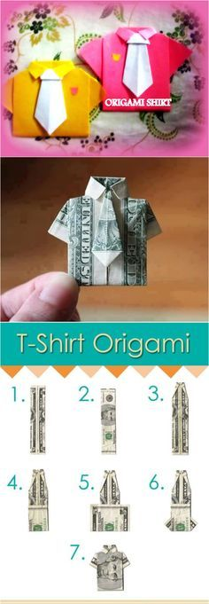 How to Make Cute DIY T-Shirt Origami
