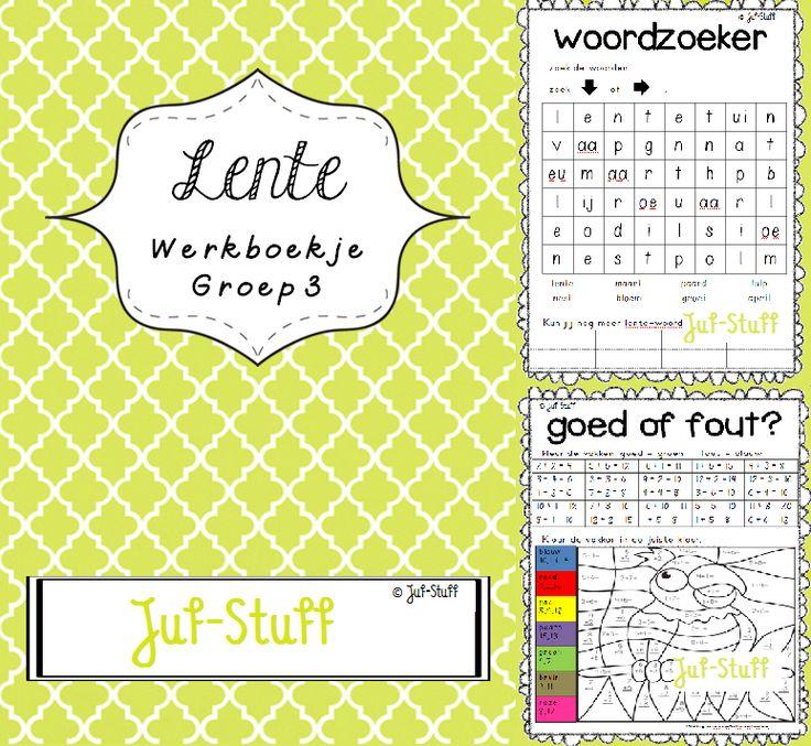 Juf-Stuff: lente-werkboekje groep 3