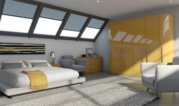 Ultragloss Saffron Bedroom Doors - By BA Components