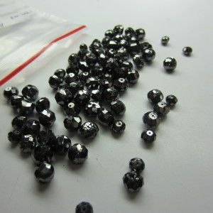 LOT OF 10.0 CT (2.0-3.0 MM) NATURAL BLACK LOOSE DIAMOND FACETED BEADS FOR NECKLACE THAT WILL MAKE YOU LOOK REALLY GORGEOUS at wholesale price.