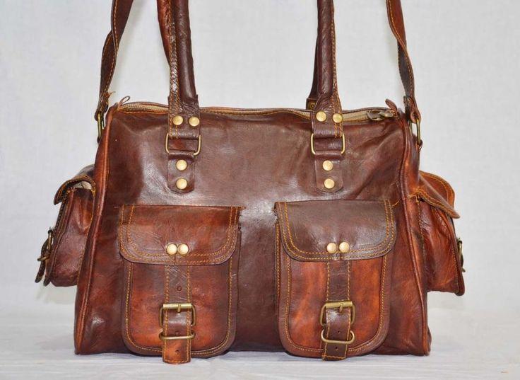 Shoulder satchel vintage messenger bag briefcase for ladies/handbag online sale. #handmade #shopperbagShoulderBag