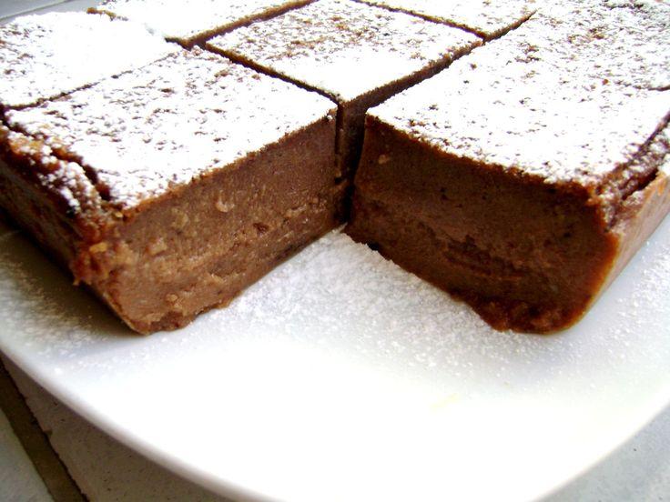 Ricetta Torta budino ai biscotti e cioccolato