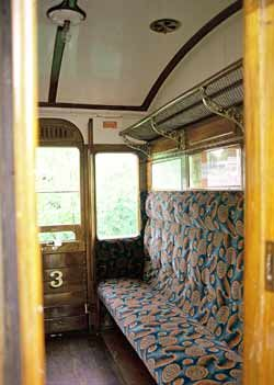 Passenger Compartment On British Railway Carriage. I traveled on trains like this as a boy in the 1950's.