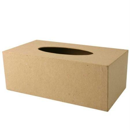 Caja de pañuelos de papel maché - Fotografía n°1