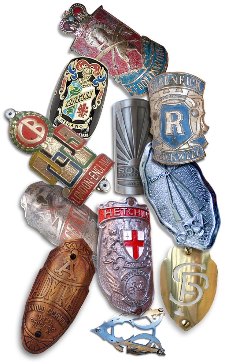 Vintage headtube badges