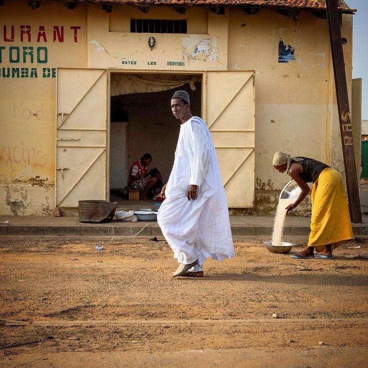 Political Map Of Senegal%0A Street scene in Podor  Senegal