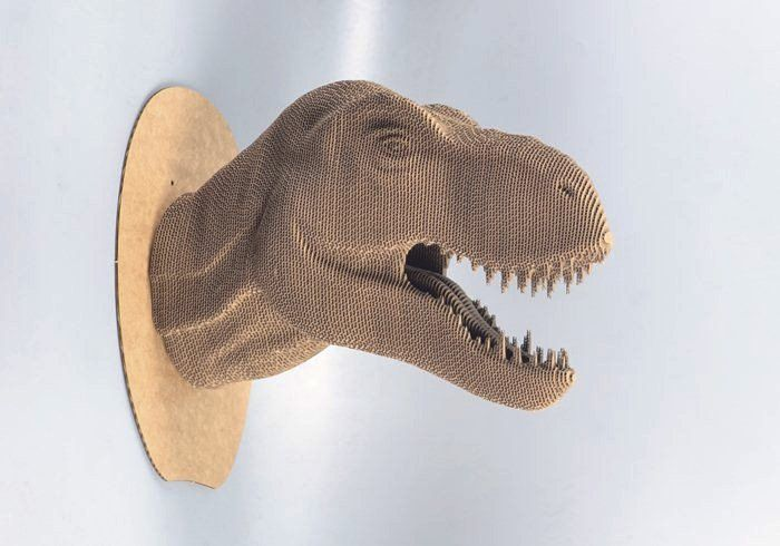 T-rex Bust    - DIY cardboard KIT by boardattack on Etsy