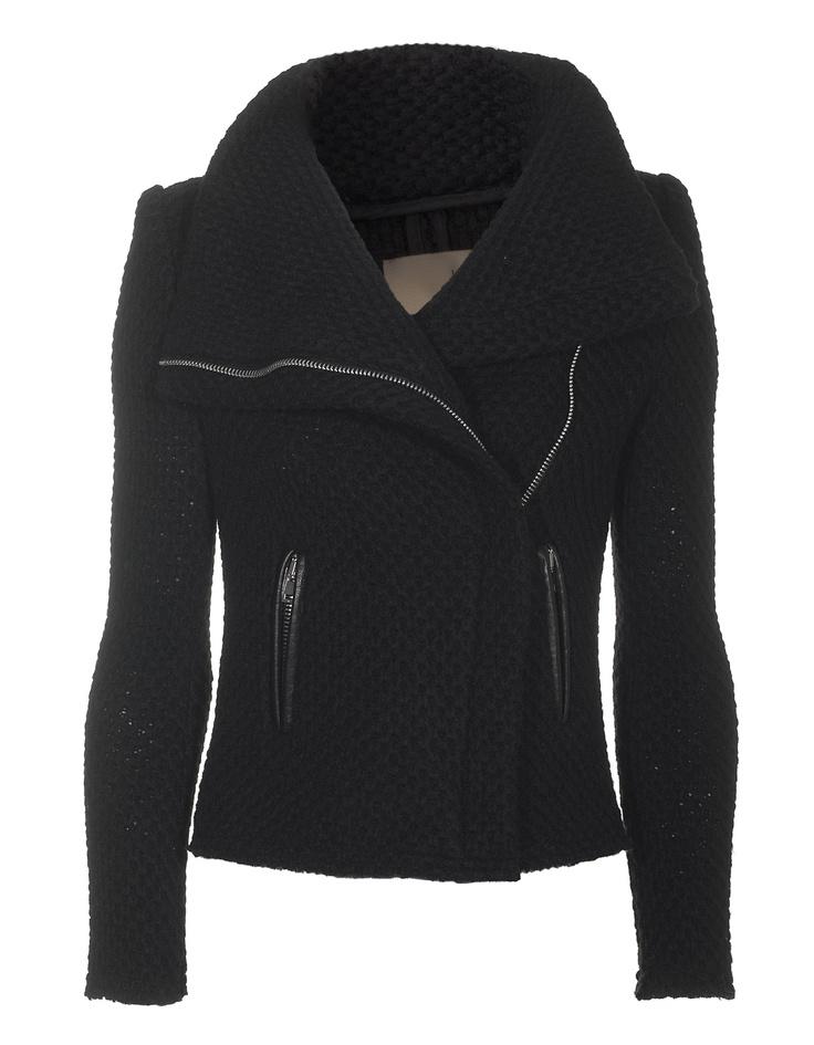 elegant biker crochet jacket