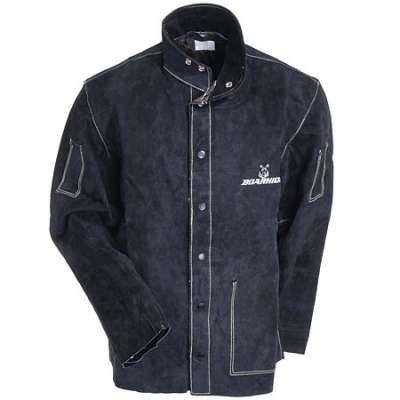 Caiman Jackets: Men's Black Leather Welding Jacket 3029
