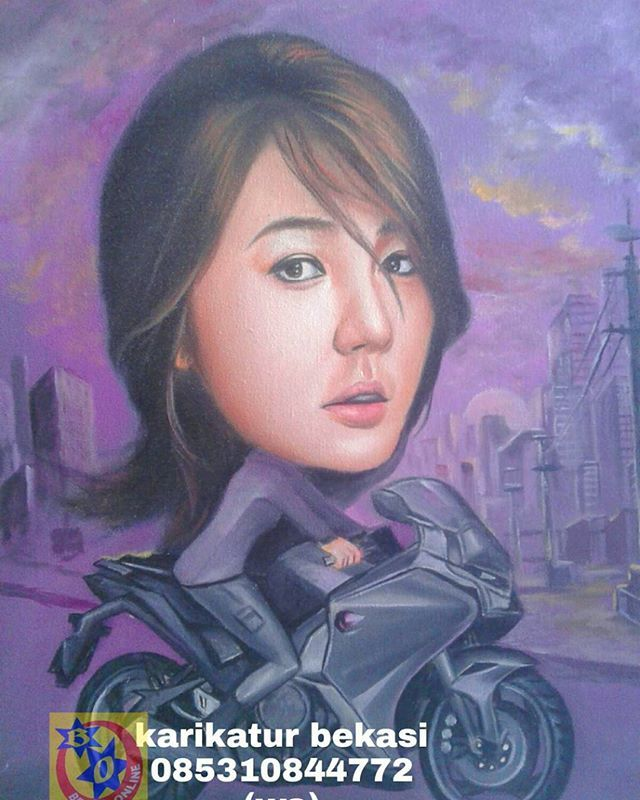 order via whatsap 085310874772. Lukis wajah,