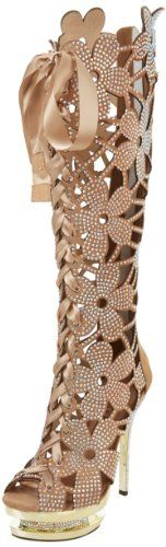 Amazon. Pleaser Women's Fantasia-2020 Knee-High Boot,Blush Suede/Gold Chrome,9 M US Pleaser,http://smile.amazon.com/dp/B007L437GW/ref=cm_sw_r_pi_dp_7xA-sb0QWVAF44SB