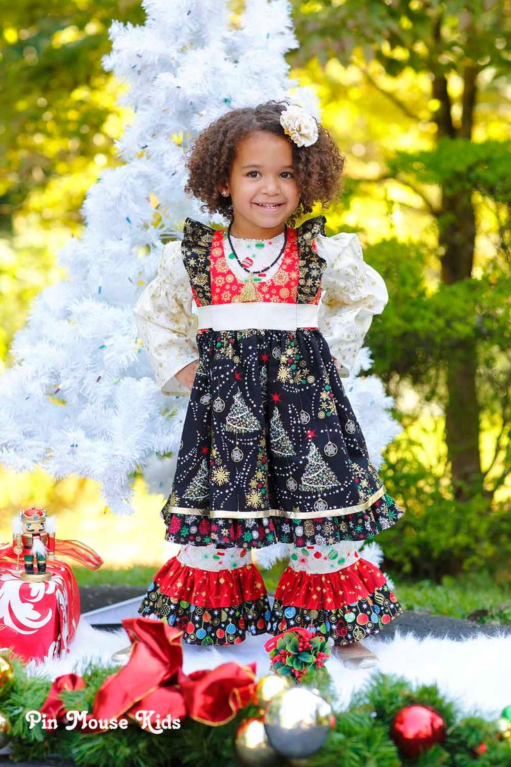 Christmas dress boutiques - Christmas Outfit For Babies Toddlers And Little Girls 3 Pc Set Includes Dress