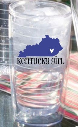 Personalized Tumbler- Kentucky Girl 26oz. $19.00, via Etsy.  Love this! Would want it Murray State colors, with the heart in Murray.
