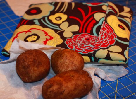 CraftSanity On TV: A Potato Bag Tutorial For Microwaving Tasty Potatoes On The…