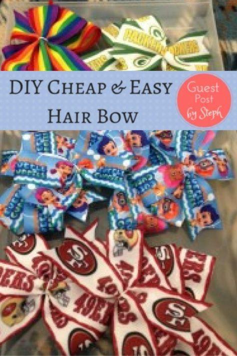 DIY Cheap & Easy Hair Bow – Haarschleifen machen ist so billig und macht Spaß, und Sie haben …   – Bows