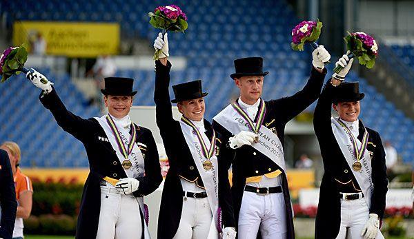 Die Dressur-Equipe will die deutsch Erfolgsbilanz bei Olympia weiterführen