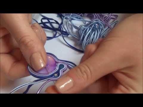 M Soutache pendant - tutorial DIY - YouTube