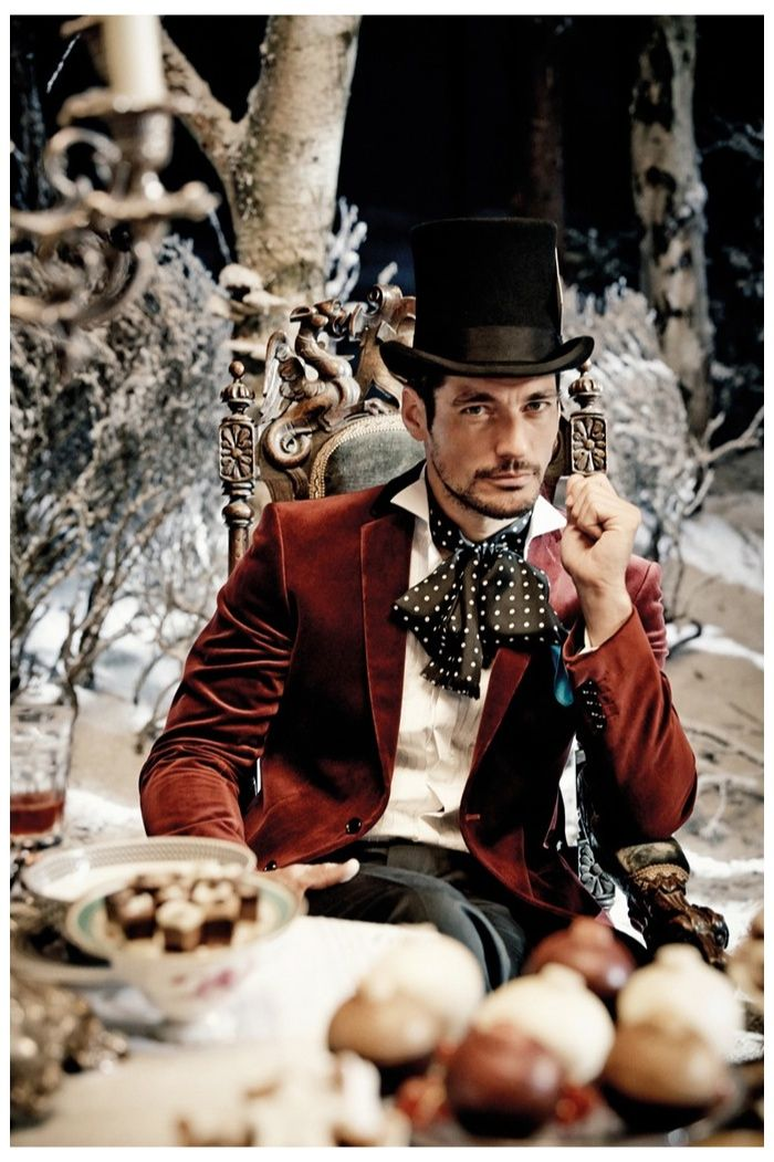 Gandy as the Mad Hatter, Scarecrow & More in Marks & Spencers Enchanting Holiday 2013 Campaign
