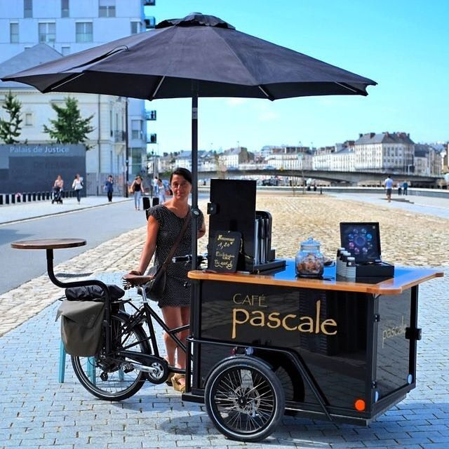 Cafe Pascale on the wheels in Nantes, France #inspiration #coffee #design #art…