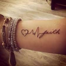 Resultado de imagem para faith hope love tattoo