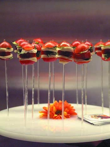 Elegant appetize lollipops-- Eatertainment Catering