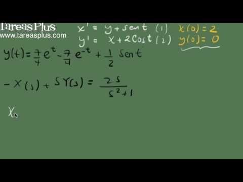 Sistema de ecuaciones diferenciales y transformada de laplace p2