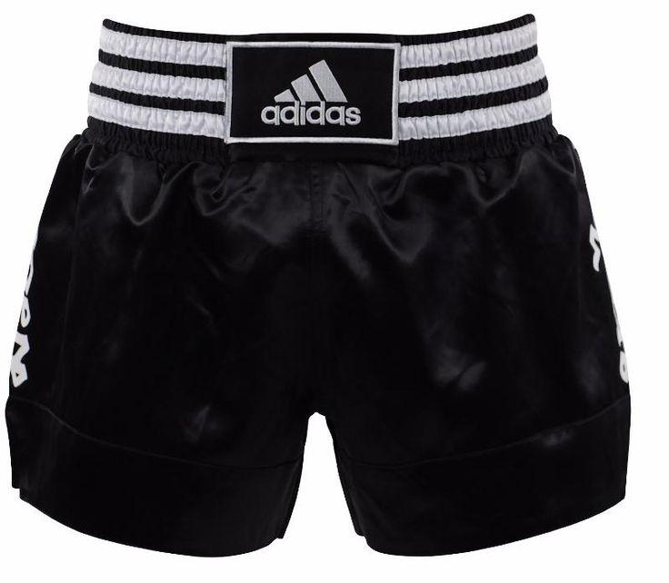 Short de boxe thaï adidas Noir/blanc