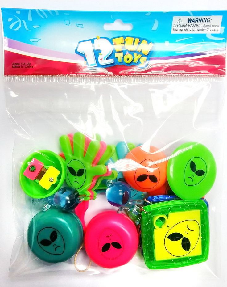 12X Alien Party Bag Birthday Favors Pinata Fillers Loot Gag Dips Game Gifts toys #Unbranded #BirthdayChild