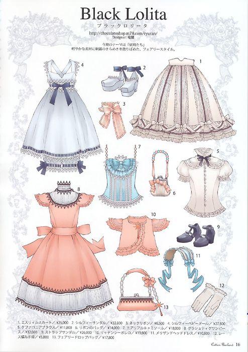 Lolita clothing.
