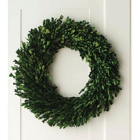 """Preserved Boxwood Leaves Wreath Green (21.25"""") Smith & Hawken™ : Target"""