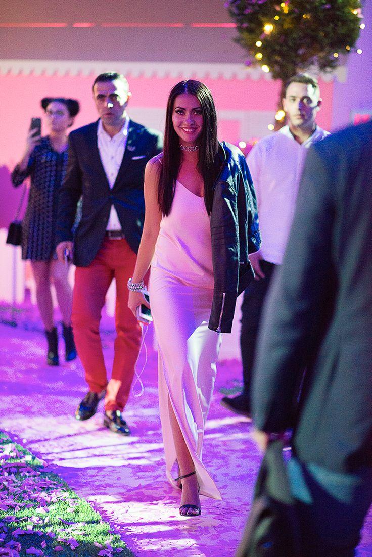 Alina Vlad blogger wearing Izabela Mandoiu silk dress. #MFW  aliceinghettoland