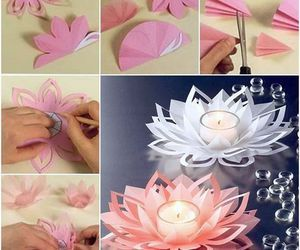 Wonderful DIY Beautiful Lotus Candlestick | WonderfulDIY.com