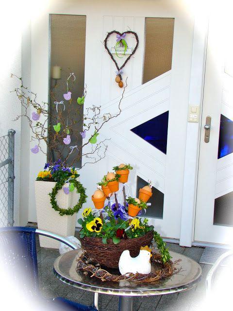 maison de la suisse: Velikonocni vyzdoba aneb v hlavni roli kvetiny