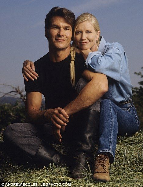 Everlasting love: Patrick and his wife Lisa on their ranch in New Mexico last year