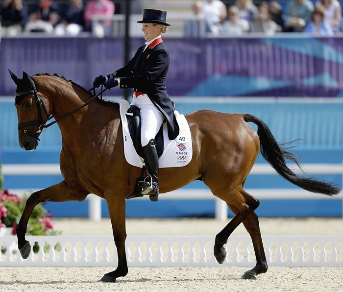 Zara Phillips Eventing Dressage Ride - Equestrian Slideshows | NBC Olympics